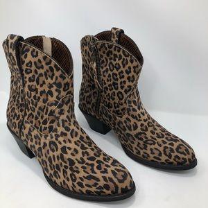 Ariat Leopard Print Leather Darlin Booties NWOT